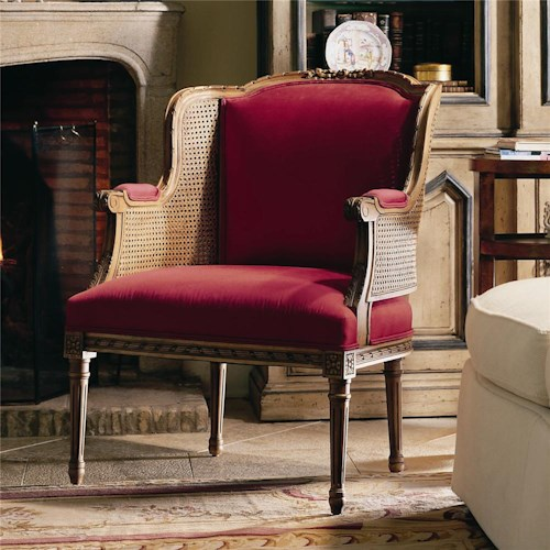 Century Century Chair Cane Accented Wing Chair