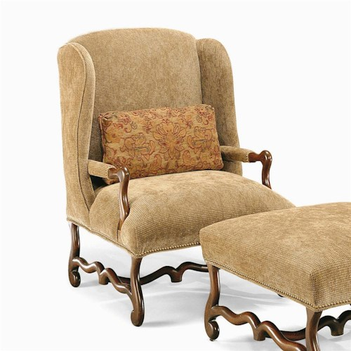 Century Century Chair Wing Arm Chair with Scrolled Base