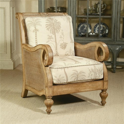 Century Century Chair Chair wirh Cane Accented Arms