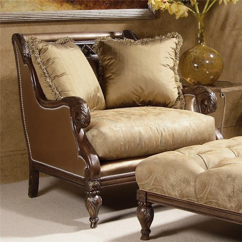 Century Century Chair Cane Accented Wing Armchair