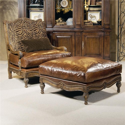 Century Century Chair Spacious Pillow Top Traditional Armchair  and Ottoman