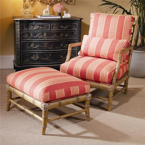 Century Century Chair Matching Coastal Chair and Ottoman