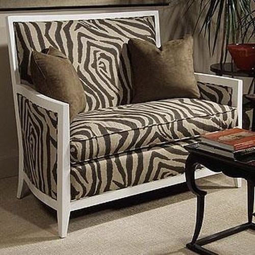 Century Century Chair Modern Settee with Straight Lines