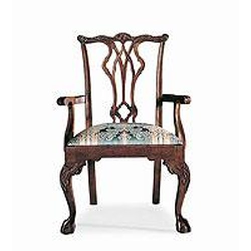 Century Century Chair  Intricate Carved Back Armchair
