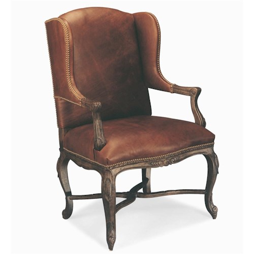 Century Century Chair Nailhead Trimmed Wing Chair