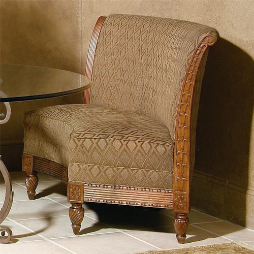 Century century chair traditional spacious curved wide seat chair ...