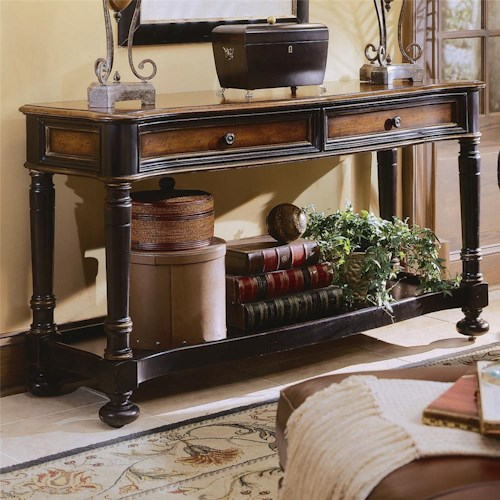 Hooker Furniture Preston Ridge Two Drawer Sofa Table