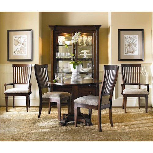 Hooker Furniture Abbott Place 3 Piece Drop Leaf Table & Chair Set