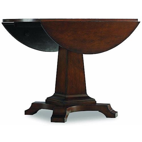 Hooker Furniture Abbott Place Round Drop Leaf Pedestal Dining Table