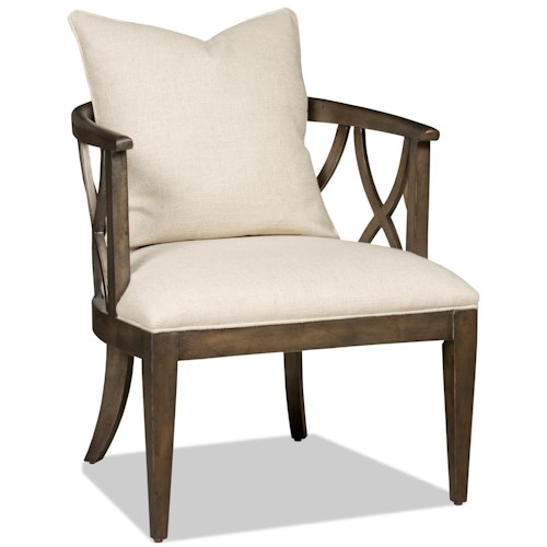 Hooker Furniture Accent Chairs Accent Chair with Pillow and Curved Back