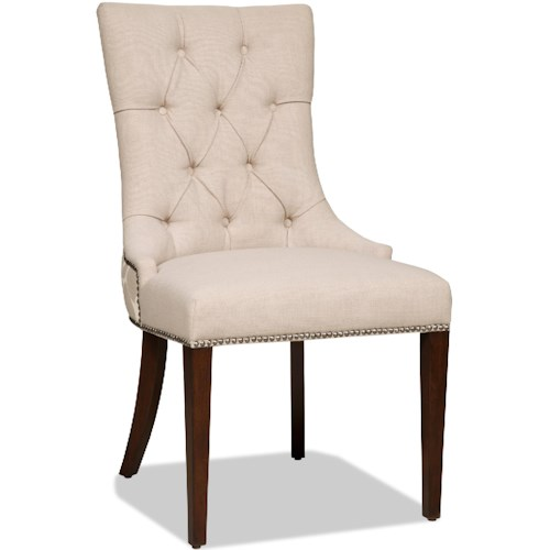 Hamilton Home Dining Chairs Upholstered Dining Side Chair with Button Tufting
