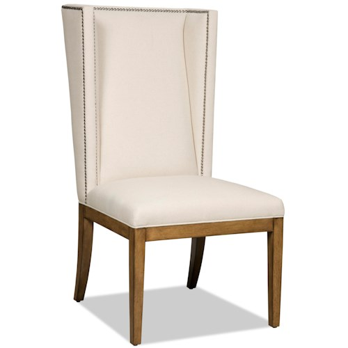Hamilton Home Dining Chairs Upholstered Parsons Dining Chair with Nailhead Trim