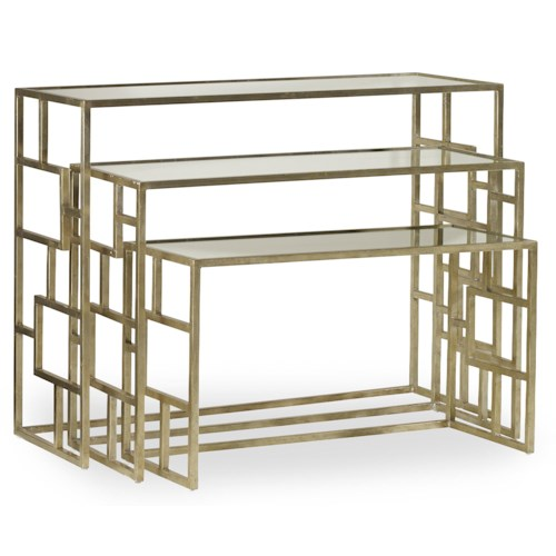 Hooker Furniture Living Room Accents Metal Nest of Tables