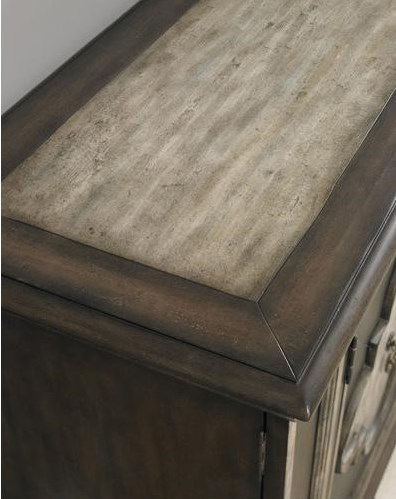 Console Top Features a Two-Tone Finish with Raised Molding