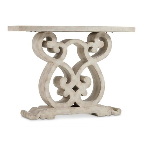 Hooker Furniture Living Room Accents Scroll Console Table