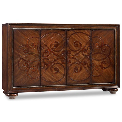 Hooker Furniture Living Room Accents Accent Door Chest with Adjustable Shelves
