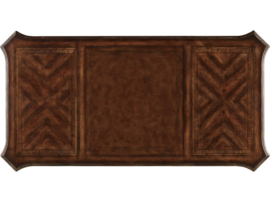 Desk Top with Leather Writing Insert Shown