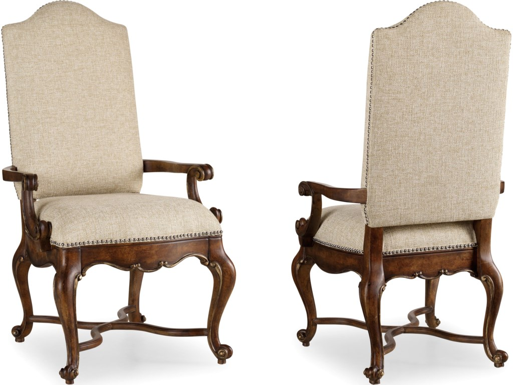 Includes Upholstered Back Arm Chairs