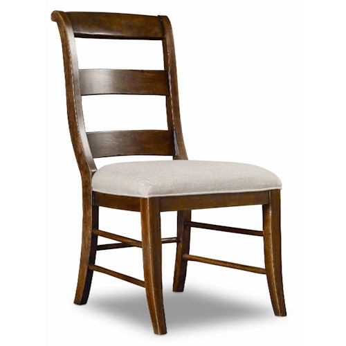 Hooker Furniture Archivist Ladderback Side Chair with Scrolled Back