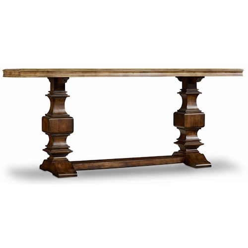 Hamilton Home Sentinel: Pecan Console Table with Two Tone Finish
