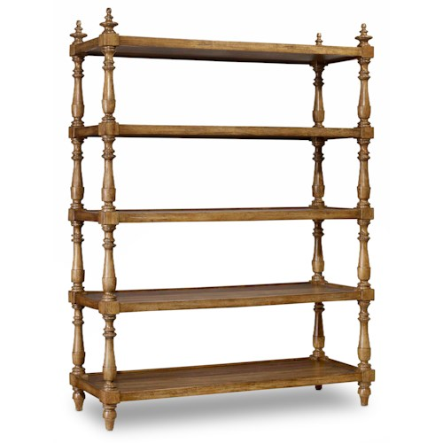 Hamilton Home Sentinel: Toffee Accent Etagere with Turned Frame