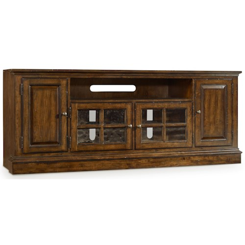 Hooker Furniture Brantley Entertainment Console with Speaker Bar Compartment