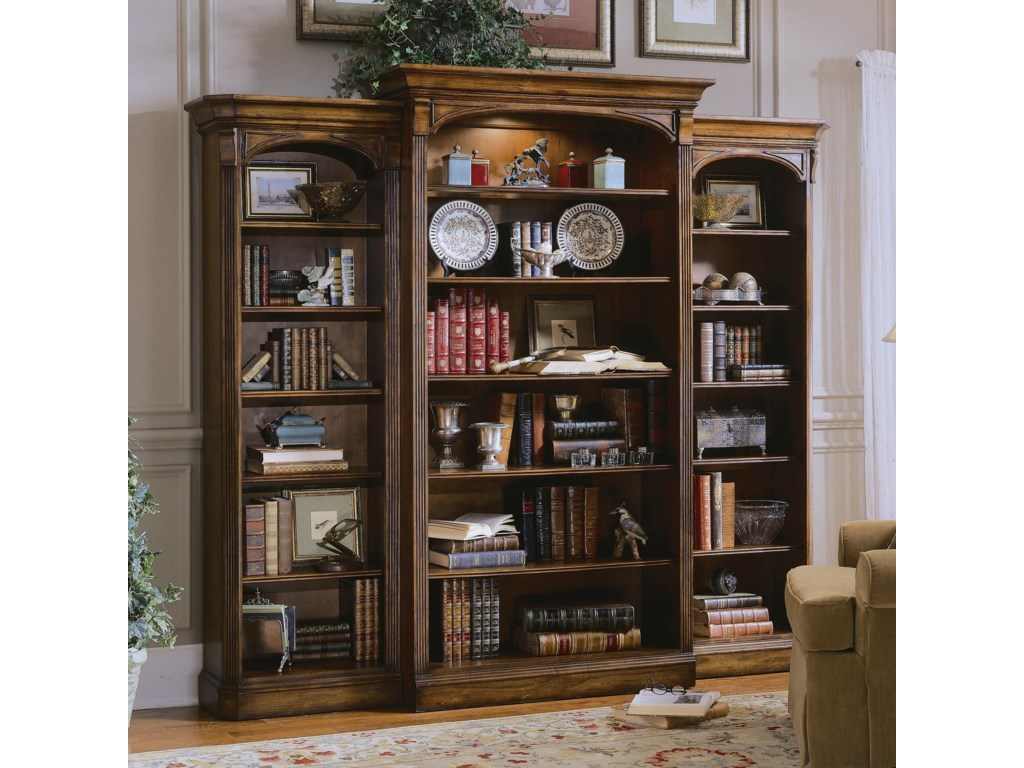 Shown with Left and Right Bookcases