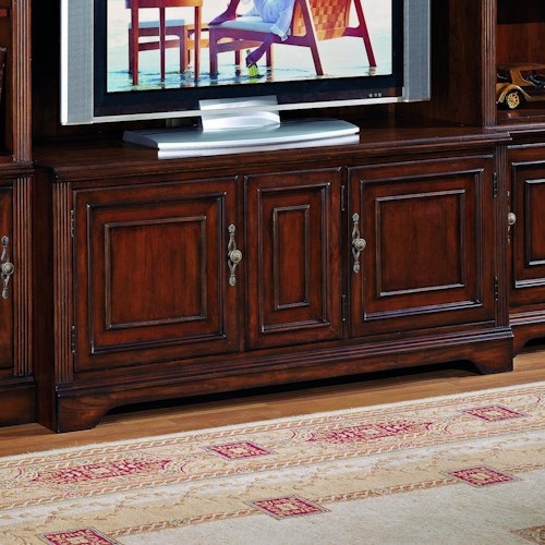 Hooker Furniture Brookhaven TV Console with Three Interchangeable Doors