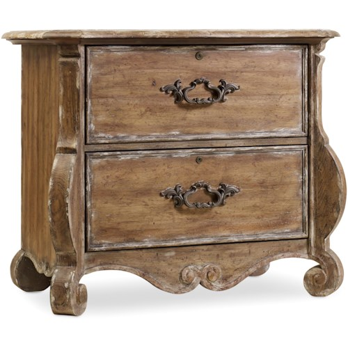 Hooker Furniture Chatelet Shaped File Chest with 2 Locking Drawers