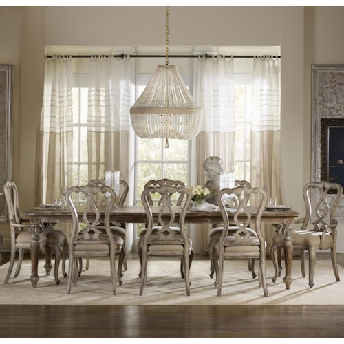 Hamilton Home Chatelet 9 Piece Dining Set with Leg Table