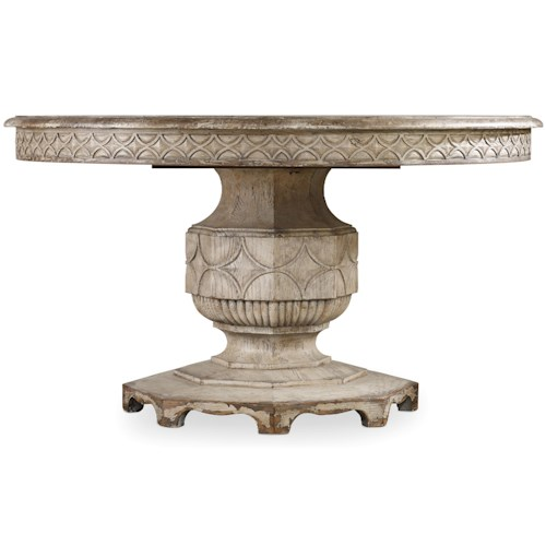 Hamilton Home Chatelet Round Dining Table with Carved Apron