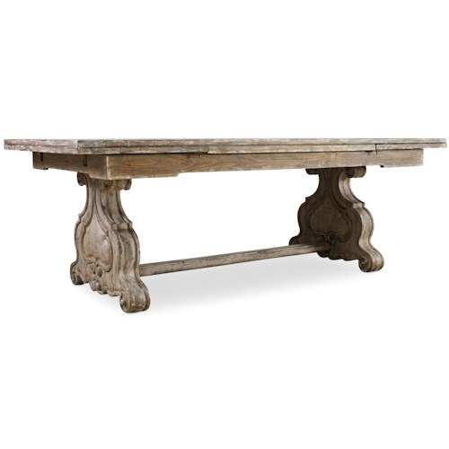 Hooker Furniture Chatelet Refectory Rectangle Trestle Dining Table