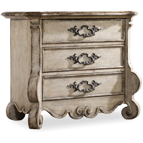 Hamilton Home Chatelet Nightstand with 3 Drawers