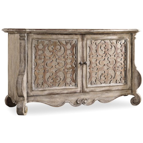 Hamilton Home Chatelet Buffet with Fretwork Doors