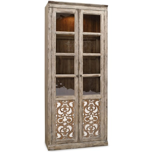 Hooker Furniture Chatelet Bunching Curio with Fretwork Doors