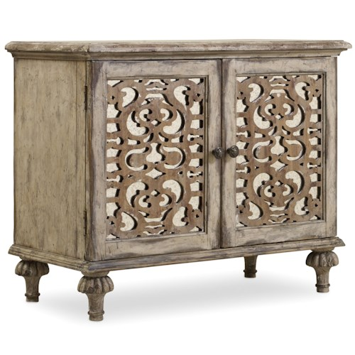 Hamilton Home Chatelet Nightstand with 2 Fretwork Doors
