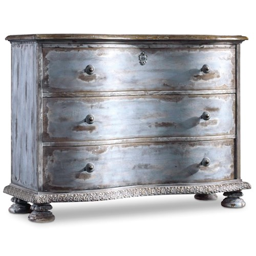 Hooker Furniture Chatelet Serpentine-Shaped Accent Chest with Carvings