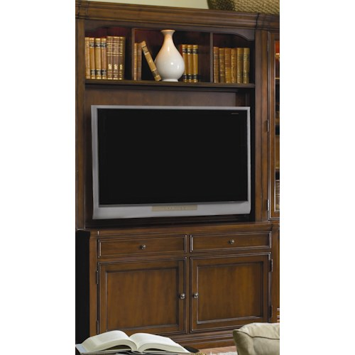 Hamilton Home Cherry Creek  Traditional Entertainment Console with Hutch