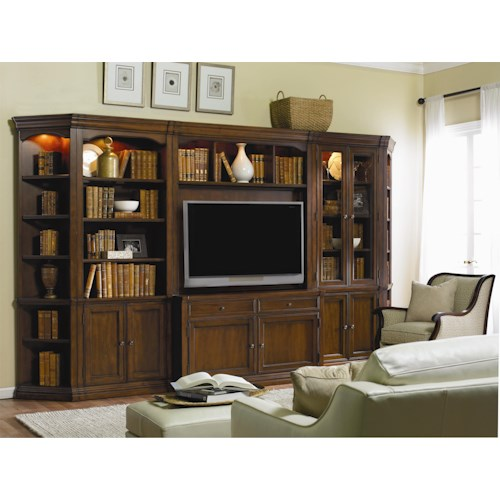 Hooker Furniture Cherry Creek  Traditional Modular Wall System with Entertainment Unit