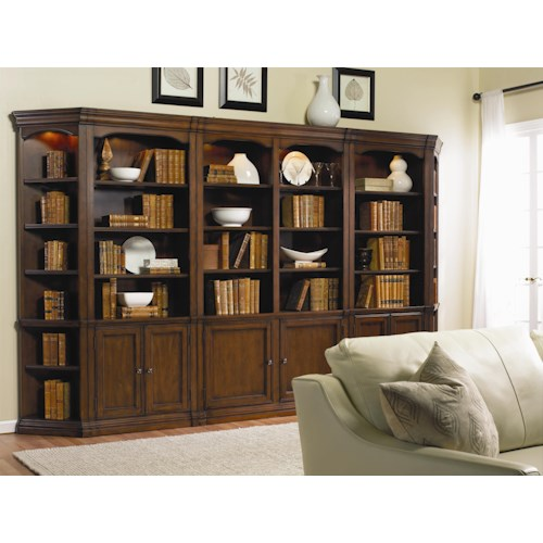 Hamilton Home Cherry Creek  Traditional Bookcase Modular Wall System