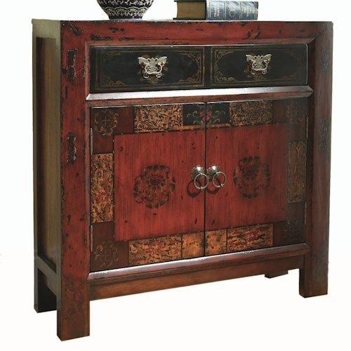 Hooker Furniture Chests and Consoles Asian Two Door, One Drawer Hall Chest