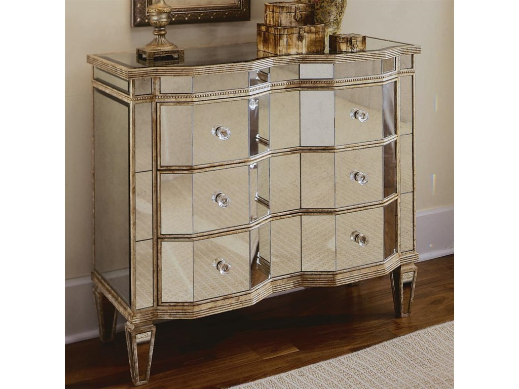 Living Room Chests Cabinets Hooker Furniture Chests And Consoles French Mirrored Chest With 3