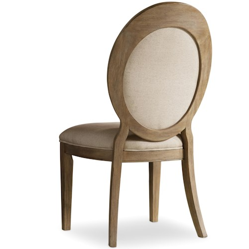 Hooker Furniture Corsica Oval Back Side Chair with Tapered Legs