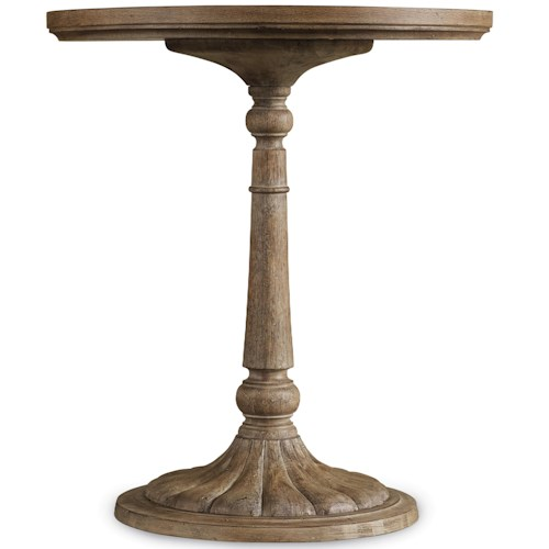 Hamilton Home Corsica Round Bedside Table with Scalloped Base