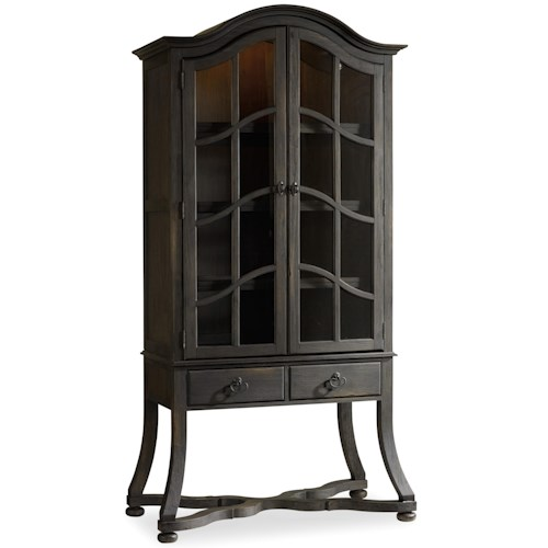 Hooker Furniture Corsica Display Cabinet with Touch Lighting