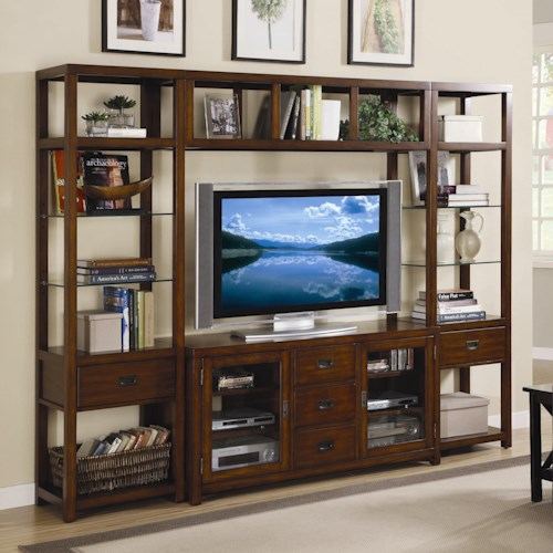 Hooker Furniture Danforth Open Entertainment Wall Unit
