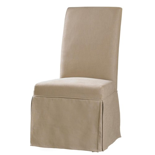 Hooker Furniture Decorator Chairs Clarice Skirted Slip Chair