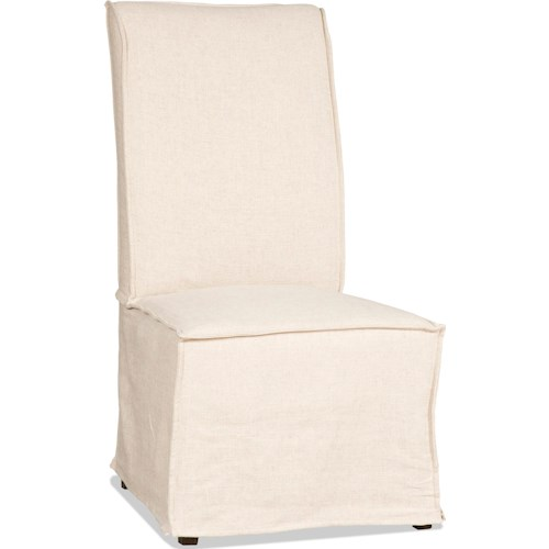 Hooker Furniture Decorator Chairs   Armless Dining Chair with Slipcover