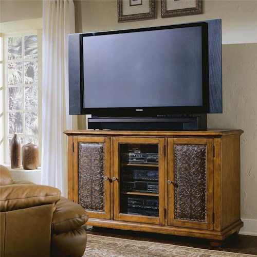 Hamilton Home Decorator Group Plasma Console - Wood W/Leather