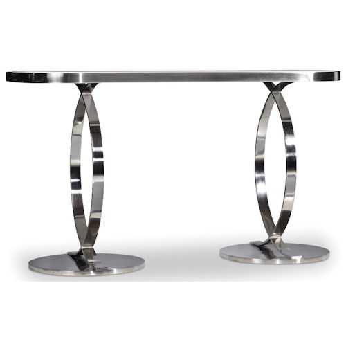 Hooker Furniture East Village Console Table with Marble Table Top